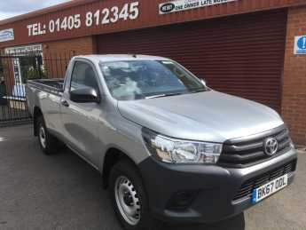 Toyota Hilux Active  2.4 D-4D SINGLE CAB 4x4 MANUAL Pick Up Diesel Silver at Key Kars Doncaster