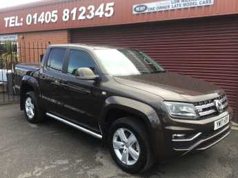 Volkswagen Amarok D/Cab Pick Up Highline 3.0 V6 TDI 224 BMT 4M Auto Pick Up Diesel Brown at Key Kars Doncaster