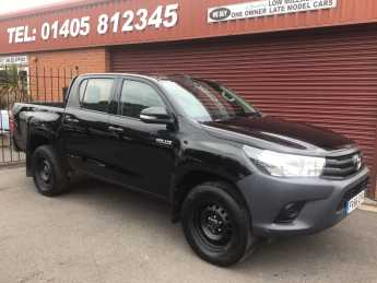 Toyota Hilux Active D/Cab Pick Up 2.4 D-4D Pick Up Diesel Black at Key Kars Doncaster