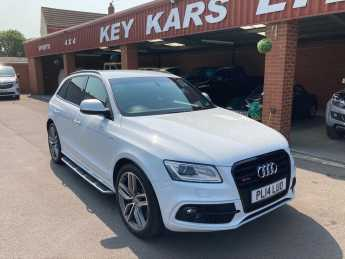 Audi Q5 SQ5 Quattro 5dr Tip Auto 3.0 TDI V6 TWO TONE LEATHER /RUNNING BOARDS/DRIVE SELECT Estate Diesel White at Key Kars Doncaster