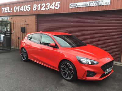 Ford Focus 1.5 EcoBlue 120 ST-Line X 5dr Hatchback Diesel Red at Key Kars Doncaster