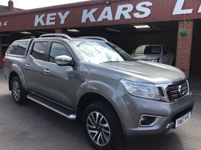 Nissan Navara Double Cab Pick Up Tekna 2.3dCi 190 4WD Auto PLUS VAT / CANOPY BACK Pick Up Diesel Grey at Key Kars Doncaster