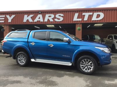 Mitsubishi L200 2.4 Double Cab DI-D 178 Barbarian 4WD Auto PLUS VAT Pick Up Diesel Blue at Key Kars Doncaster
