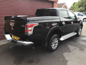 Mitsubishi L200 2.4 Double Cab DI-D 178 Barbarian 4WD Auto (PLUS VAT) SPORTS LIFT UP FLAT COVER MOUNTAIN BACK Pick Up Diesel Black at Key Kars Doncaster