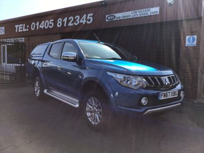 Mitsubishi L200 2.4 Double Cab DI-D 178 Barbarian 4WD Auto (PLUS VAT) Pick Up Diesel Blue at Key Kars Doncaster