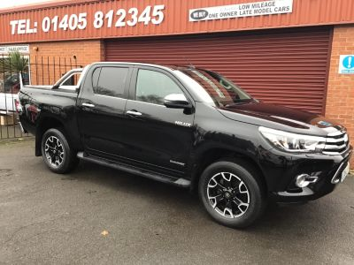 Toyota Hilux Invincible X D/Cab Pick Up 2.4 D-4D Auto PLUS VAT Pick Up Diesel Black at Key Kars Doncaster