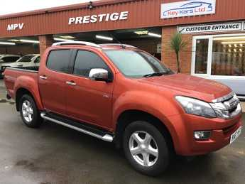 Isuzu D-Max 2.5TD Utah Double Cab 4x4 Auto [Vision Pack] PRICE IS PLUS VAT Pick Up Diesel Red at Key Kars Doncaster