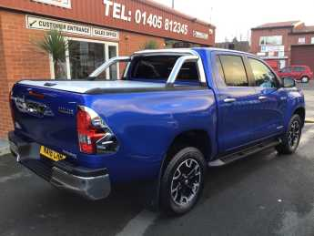 Toyota Hilux Invincible X D/Cab Pick Up 2.4 D-4D Auto MOUNTAIN ROLLER BACK / CHROME ROLL BARS PRICE IS PLUS VAT Pick Up Diesel Black at Key Kars Doncaster