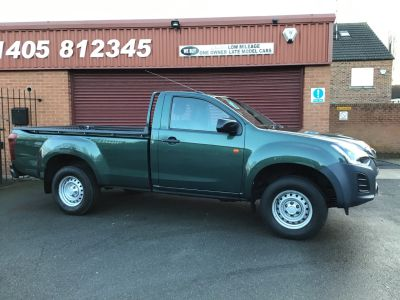Isuzu D-Max 1.9 TD Single Cab 4x4 4WD NO VAT TO PAY Pick Up Diesel Green at Key Kars Doncaster