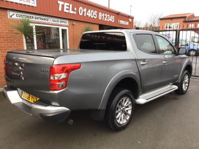 Mitsubishi L200 2.4 Double Cab DI-D 178 Warrior 4WD Auto PRICE IS PLUS VAT Pick Up Diesel Grey at Key Kars Doncaster