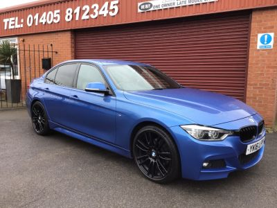BMW 3 Series 2.0 320d M Sport 4dr Step Auto FULL LEATHER /FULL SERVICE HISTORY Saloon Diesel Blue at Key Kars Doncaster