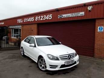 Mercedes-Benz C Class 2.1 C220 CDI AMG Sport Edition 4dr Auto SAT/NAVIGATION Saloon Diesel White at Key Kars Doncaster