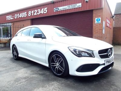 Mercedes-Benz Cla Class 2.1 CLA 220d Shooting Brake AMG Line 5dr Tip Auto Estate Diesel White at Key Kars Doncaster