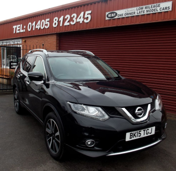 Nissan X Trail 1.6 dCi Tekna 5dr [7 Seat] PAN ROOF ,SAT/NAV ,FULL LEATHER, 7SEATS Estate Diesel Black at Key Kars Doncaster