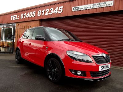 Skoda Fabia 1.2 TSI Monte Carlo 5dr LOW MILES / FULL SERVICE HISTORY WITH 7 STAMPS Hatchback Petrol Red at Key Kars Doncaster