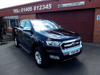 Ford Ranger Pick Up Double Cab Limited 2 2.2 TDCi Auto BLACK HEATED LEATHER/SAT NAV/ Pick Up Diesel Black at Key Kars Doncaster