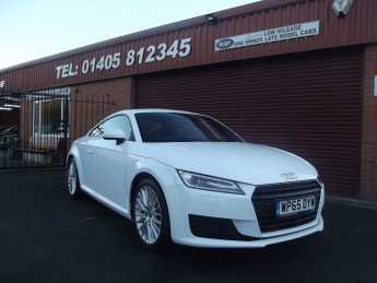 Audi TT 2.0 TDI ULTRA SPORT (ONLY 30 POUNDS ROAD TAX / ONE OWNER WITH SERVICE HISTORY) Coupe Diesel White at Key Kars Doncaster