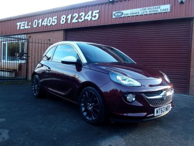 Vauxhall Adam 1.4i Jam 3dr Hatchback Petrol Red at Key Kars Doncaster