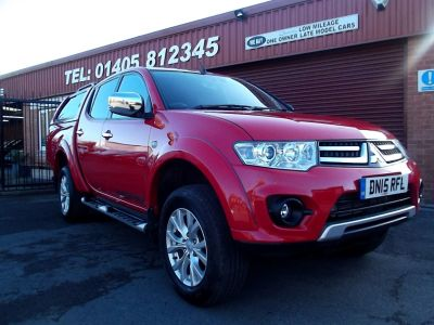 Mitsubishi L200 2.5 D/Cab DI-D Warrior II 4WD Auto 176Bhp  GLAZED TRUCKMAN REAR COVER, ONLY 10700 MILES [2010]. Plus vat Pick Up Diesel Red at Key Kars Doncaster