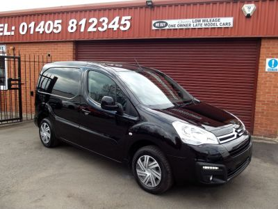 Citroen Berlingo 1.6 BlueHDi 625Kg Enterprise 75ps COLOUR CODED SPECIAL EDITION Panel Van Diesel Black at Key Kars Doncaster