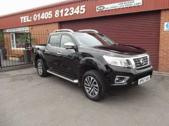 Nissan Navara Double Cab Pick Up Tekna 2.3dCi 190 4WD Auto PRICE IS PLUS VAT Pick Up Diesel Black at Key Kars Doncaster