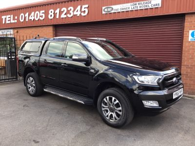 Ford Ranger 3.2 TDCI 200 AUTO WILDTRAK 4X4 CHOICE OF BACK OPTIONS Pick Up Diesel Black at Key Kars Doncaster