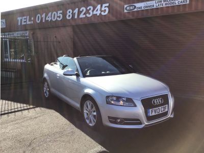 Audi A3 1.6 TDI Sport 2dr CONVERIBLE Convertible Diesel Silver at Key Kars Doncaster