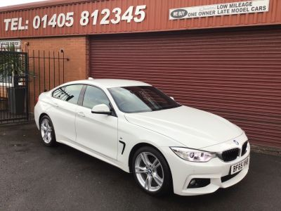 BMW 4 Series 2.0 420i M Sport GRAN COUPE 4dr [Professional Media] LOW LOW MILES Saloon Petrol White at Key Kars Doncaster