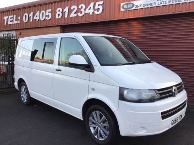Volkswagen Transporter 2.0 TDI 102PS Startline Van NEWLY CONVERTED 6 SEATER KOMBI WITH HOST OF EXTRAS Crew Van Diesel White at Key Kars Doncaster